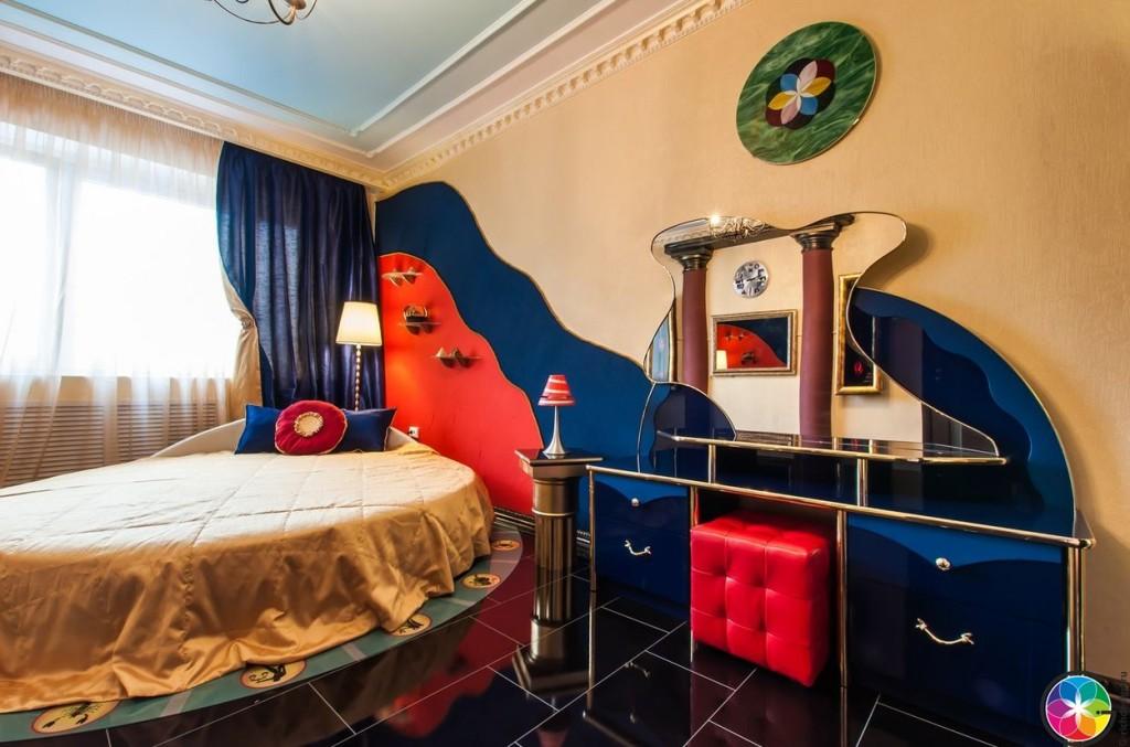 Общий вид дизайна комнаты в стиле Пятый элемент