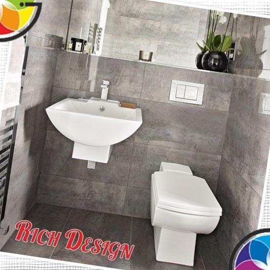 необычный вариант ванной комнаты в коричневом
