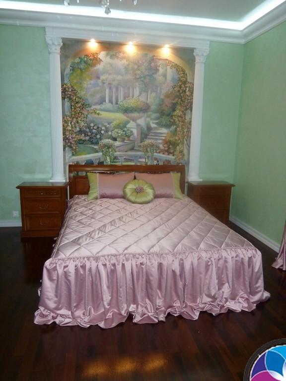 панно с кроватью - дизайн интерьера