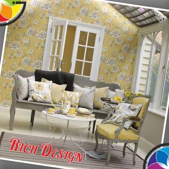 Серый и желтый в дизайне интерьера