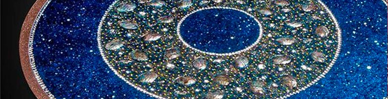 Мандалы из натуральных камней в дизайне