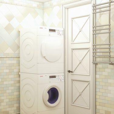 интерьер ванной комнаты, поселок Львовский, Подольск