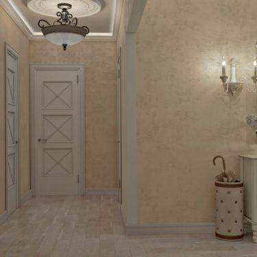 интерьер прихожей комнаты, поселок Львовский