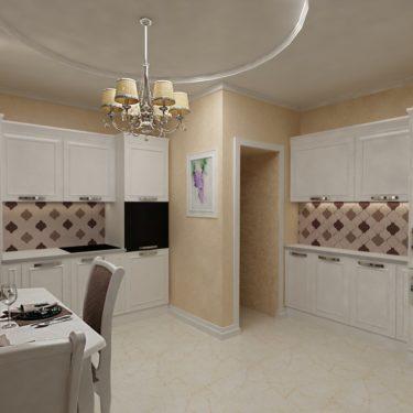 Дизайн интерьера кухни в пос.Южная Бавария, Москва